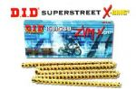 STREET TRIPLE 675 Upto VIN 459240: DID ZVMx 525-116 Extreme Heavy Duty X-Ring Gold Chain